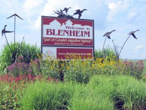 Blenheim Ontario Sign
